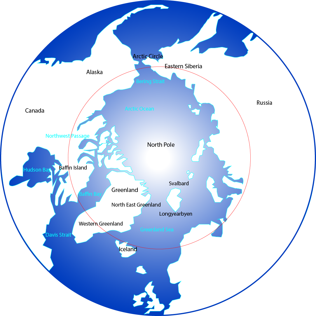 Arctic cruise guide map