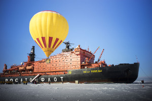 things to do on a North Pole cruise - hot air baloon