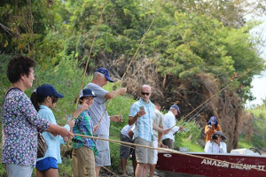 Amazon cruise activites - fishing