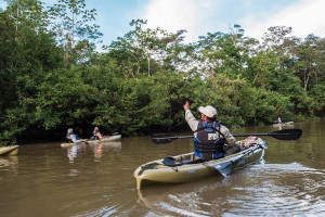 Amazon cruise activities - kayaking
