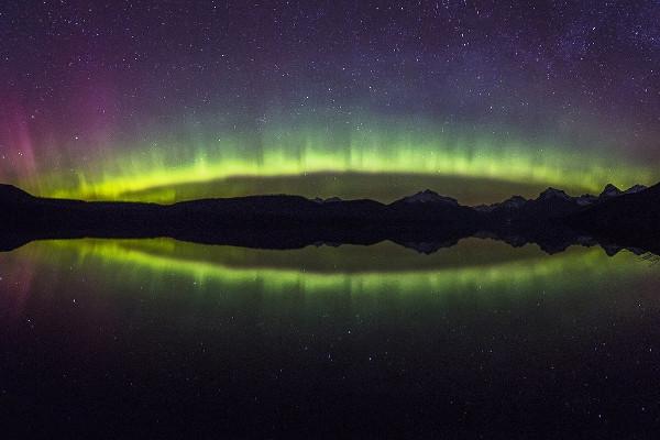 Alaska cruise with Northern lights